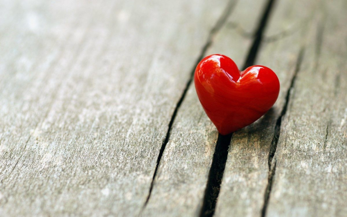 Wood Board Crack Red Heart Love HD Wallpaper – ZoomWalls