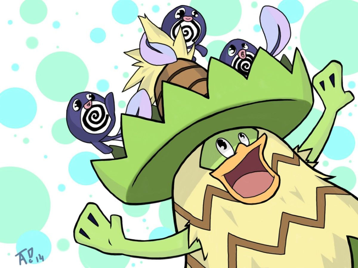Ludicolo and Poliwags by alexandea540 on DeviantArt
