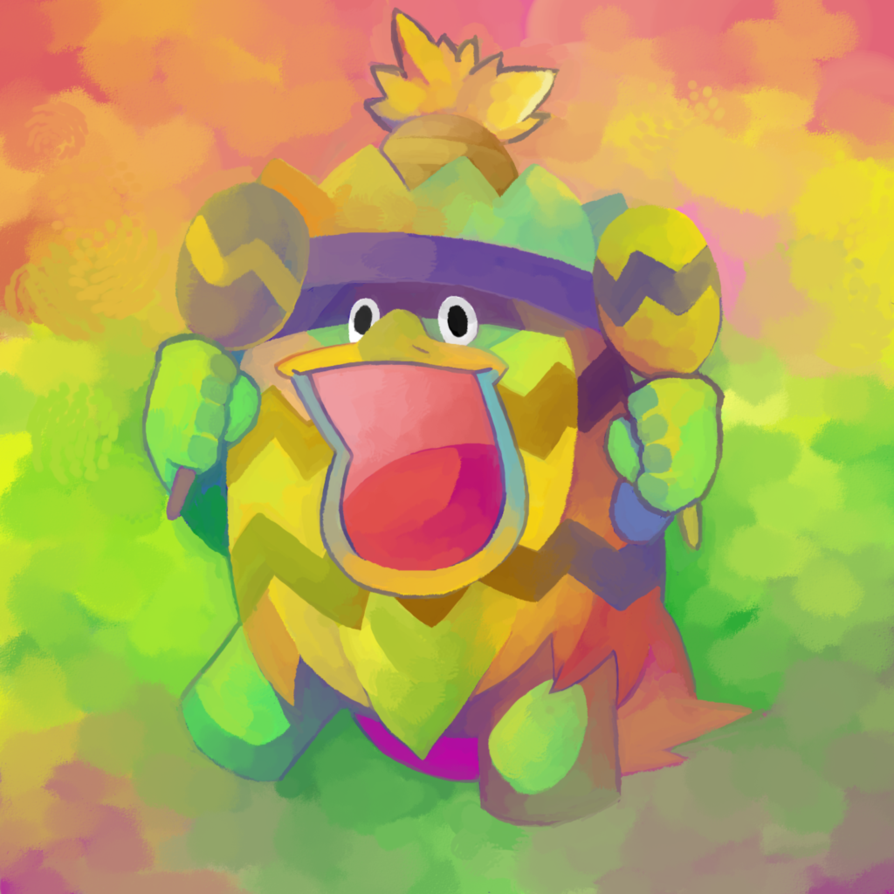 Ludicolo on drugs by Dhui on DeviantArt
