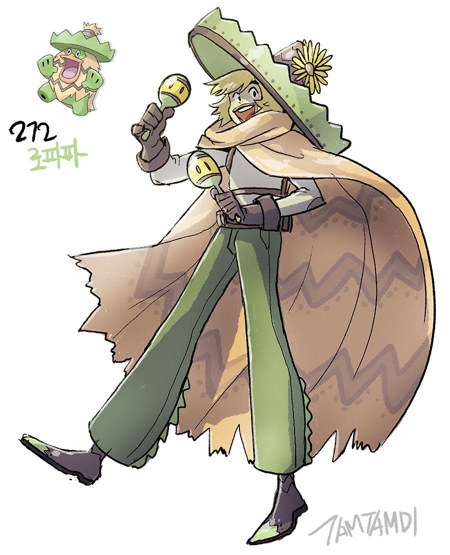 Pokemon Gijinka 270. Lotad 271. Lombre 272. Ludicolo | Pokemon …