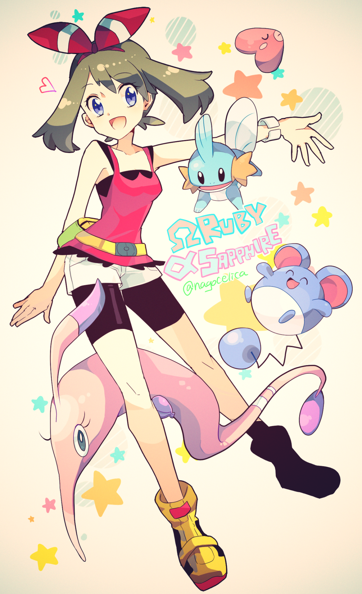 Omega Ruby and Alpha Sapphire May, Mudkip, luvdisc, marill, and …