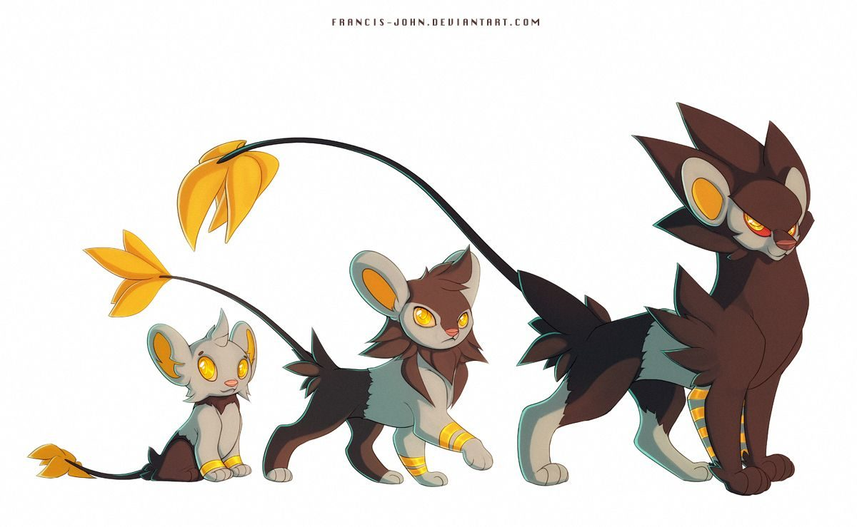 Shinx Luxio and Luxray by francis_john — Fur Affinity [dot] net