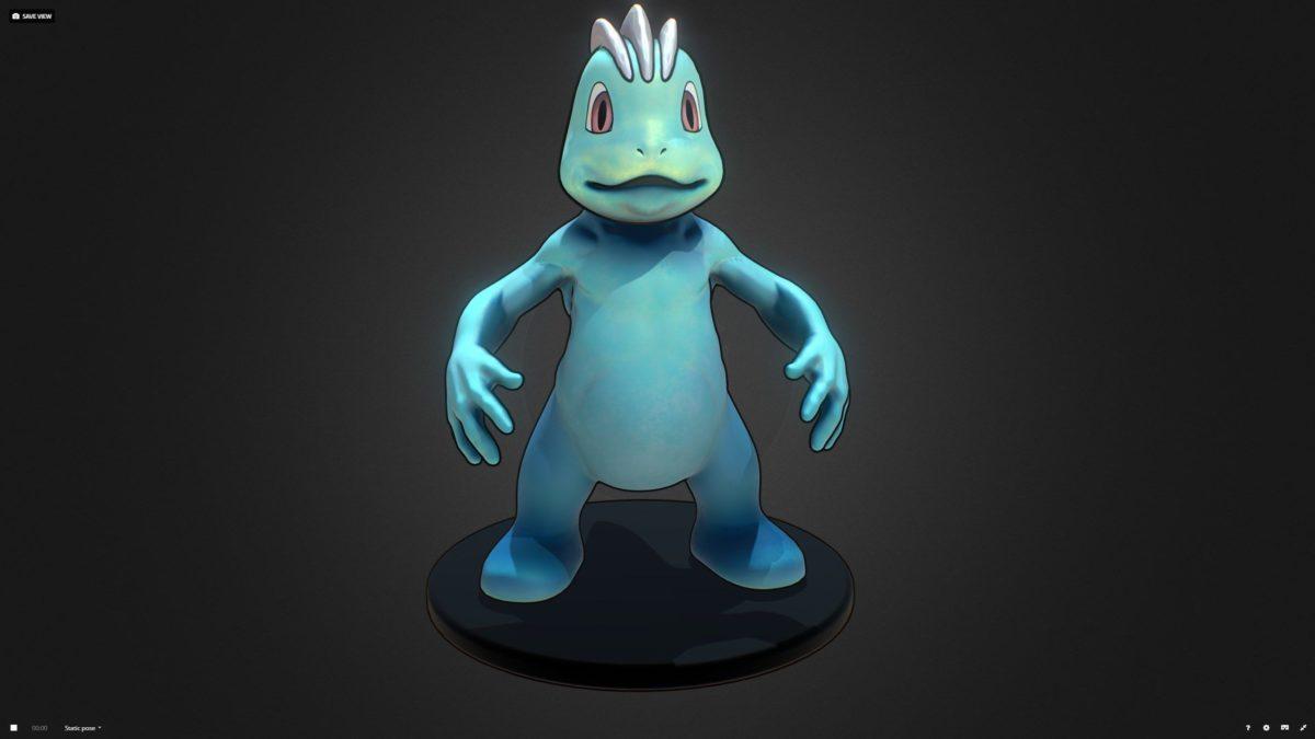 Machop Pokemon 3D asset | CGTrader