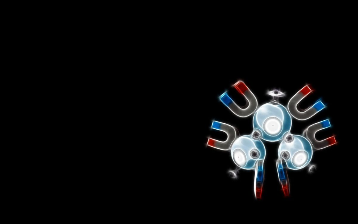 Pokemon black background magneton Wallpaper free desktop …
