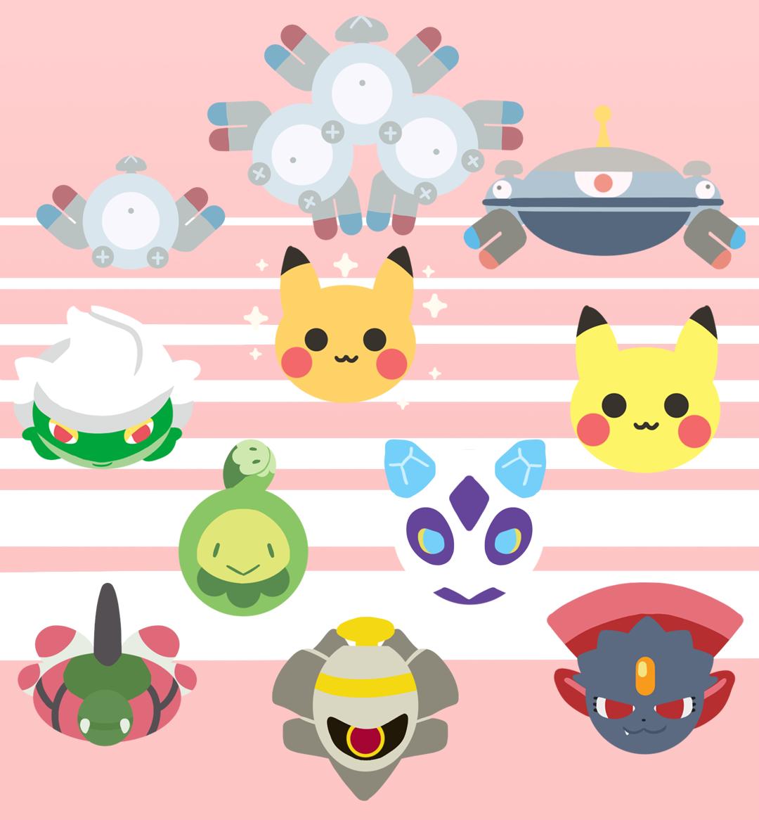 Magnemite, Magneton, Magnezone, Roserade, shiny Pikachu, normal …