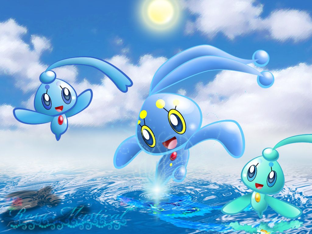Manaphy and Phione by Rosa-Mystical on DeviantArt