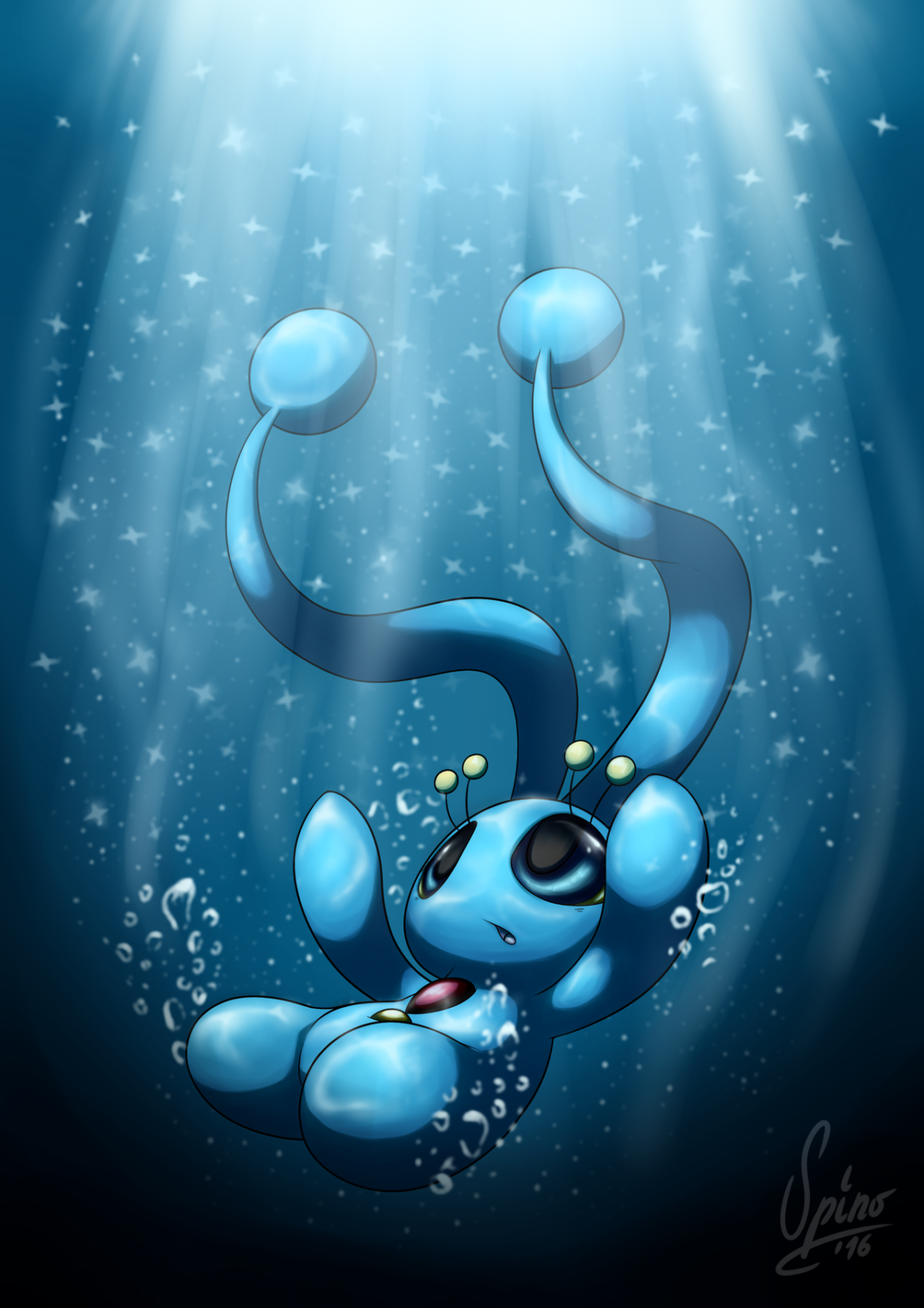 20 Years of Pokemon – Manaphy by SpinoOne on DeviantArt