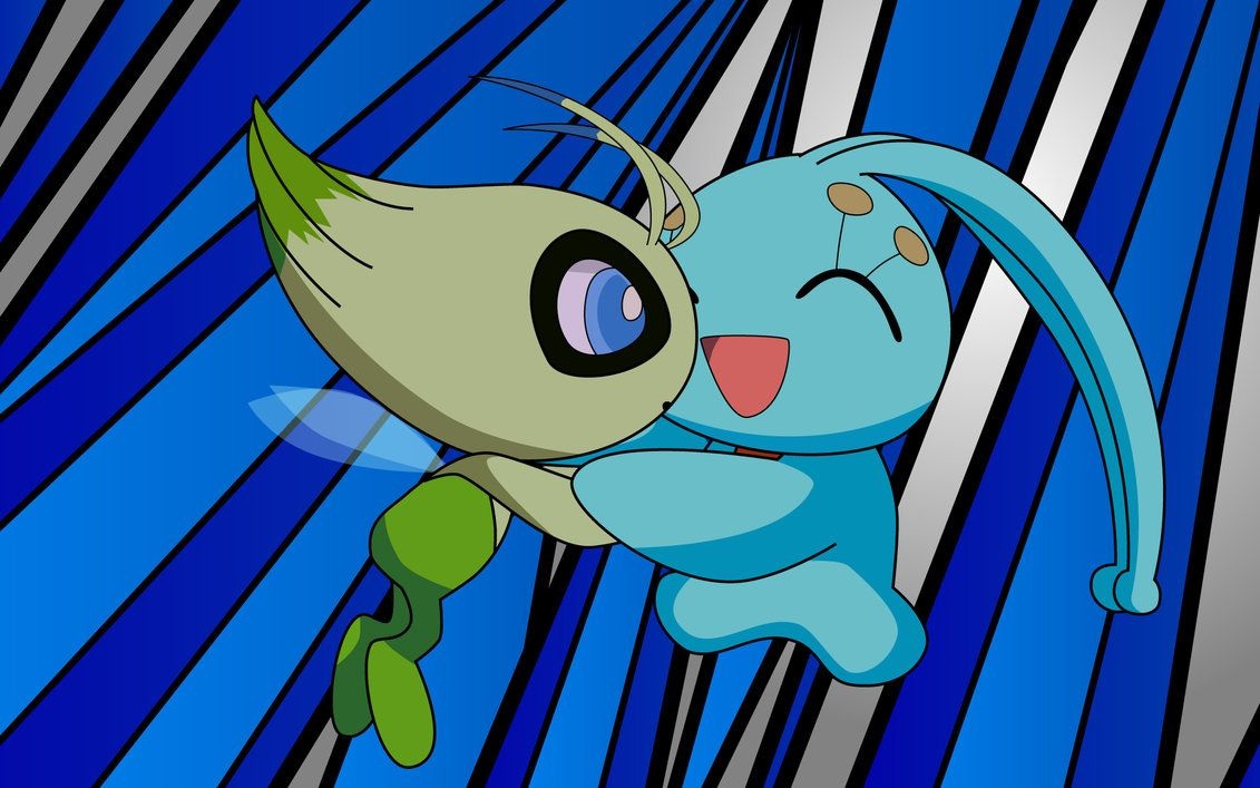 Celebi and Manaphy by FezVrasta on DeviantArt
