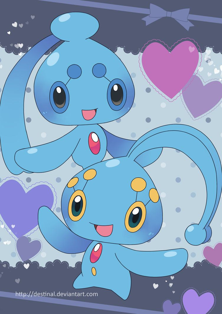 Manaphy and Phione Poster by Crystal-Ribbon on DeviantArt