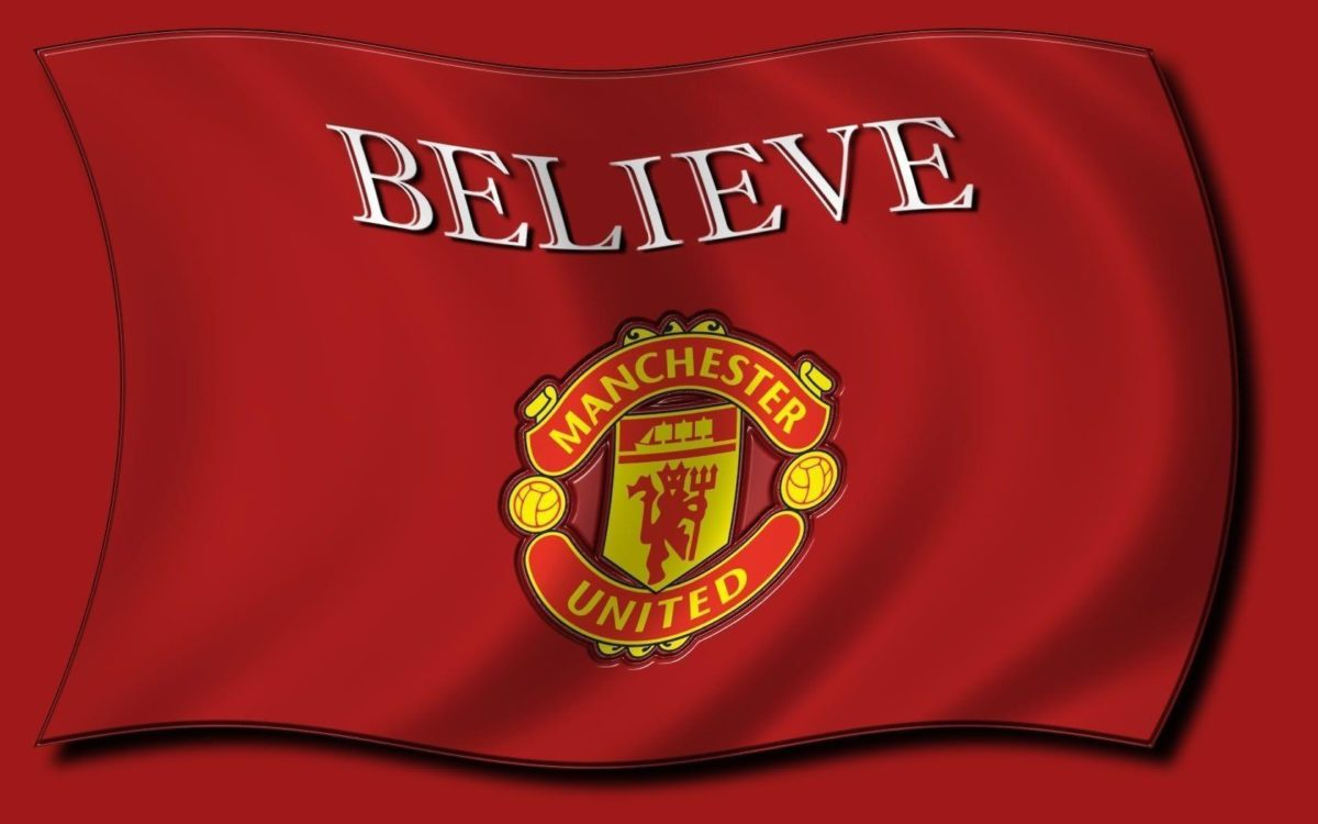 Red Background Manchester United Logo Wallpape #11581 Wallpaper …