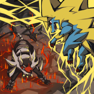 download Mega Houndoom vs. Mega Manectric by chirenbo.deviantart.com on …