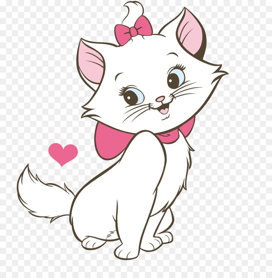 Minnie Mouse Cat Marie Kitten Aristogatos – Cute cat png download …