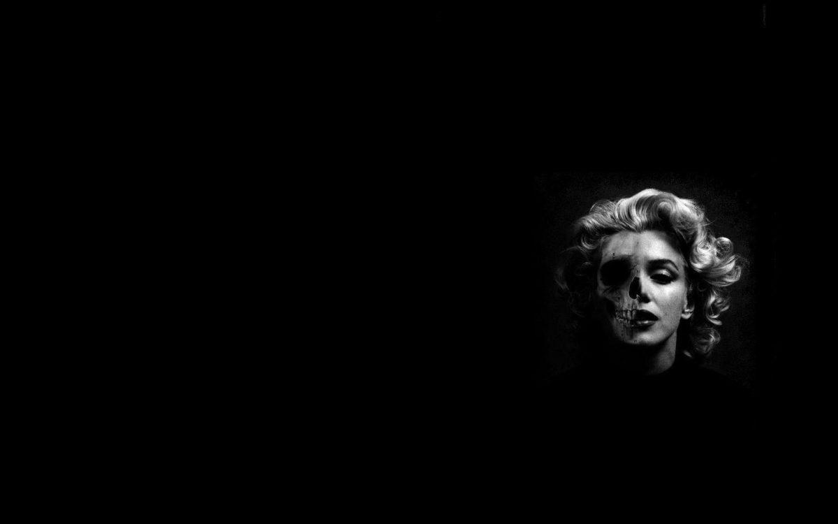 Marilyn Monroe skeleton wallpaper – Skullspiration