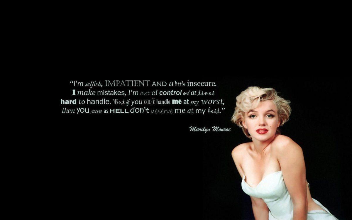 Marilyn Monroe Quotes 6645 Desktop Backgrounds | Areahd.