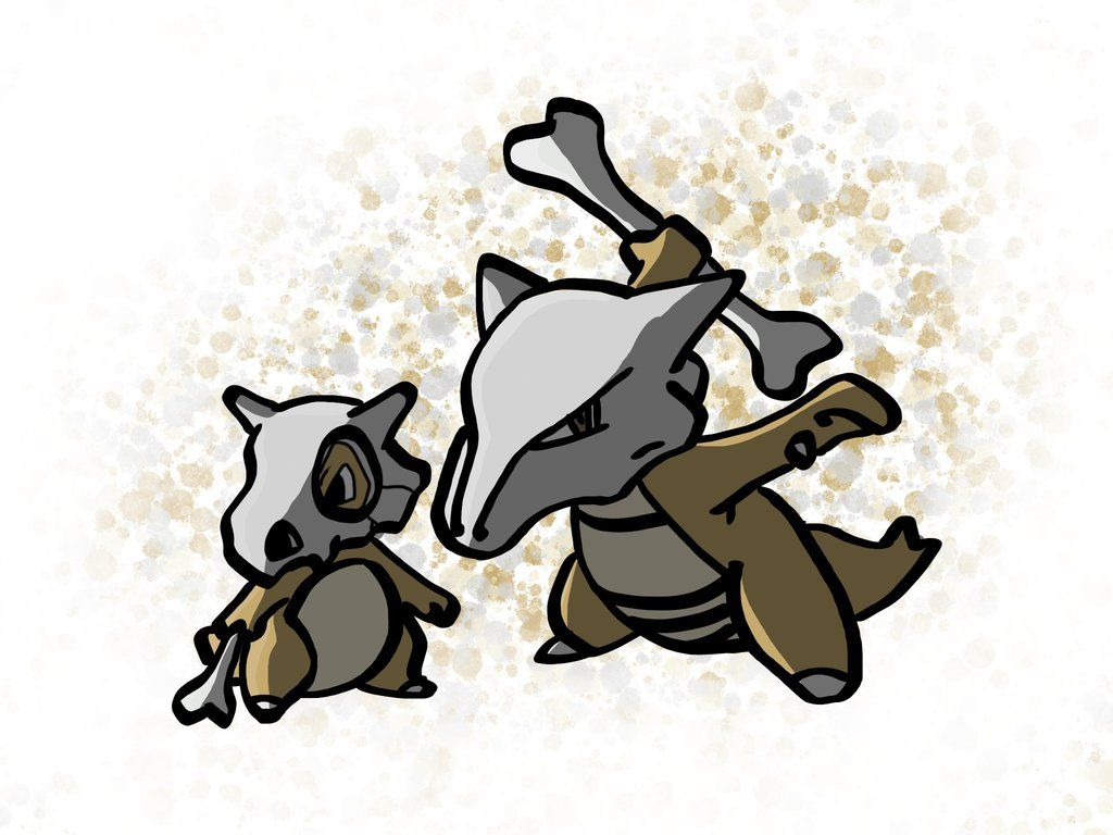Cubone and Marowak by BlacksmithnWizard on DeviantArt