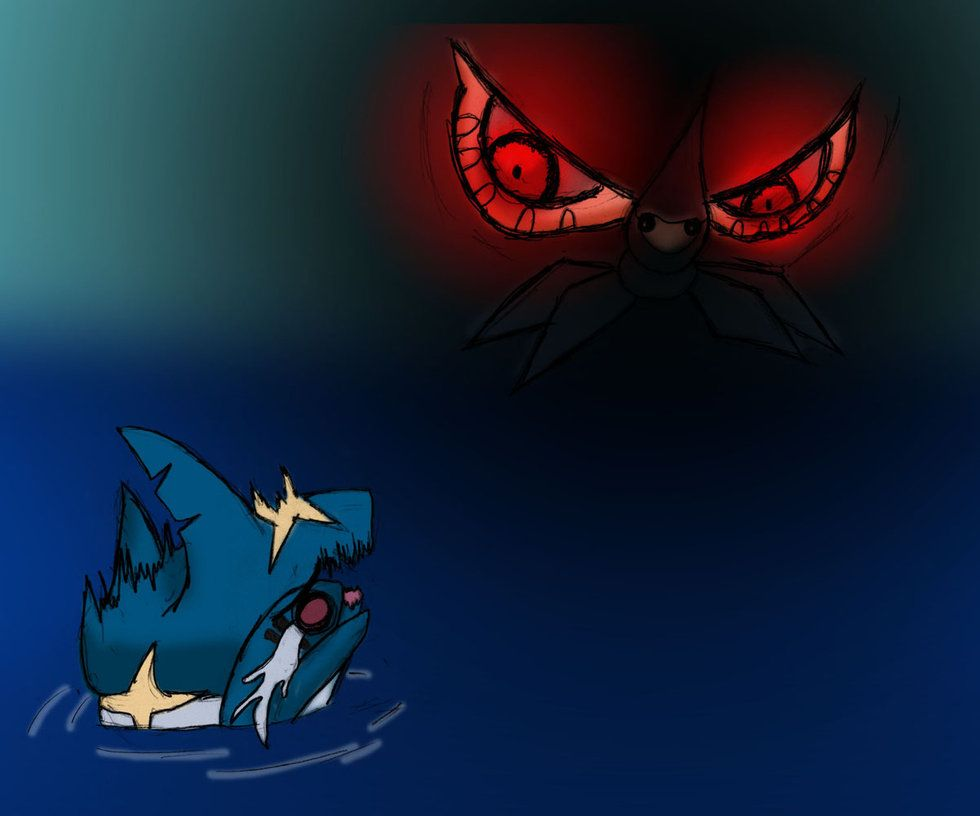 Masquerain vs Sharpedo by Rolling-Naya on DeviantArt