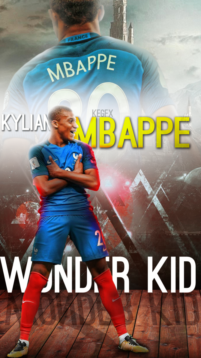 Kylian Mbappe Mobile Wallpaper by NewGenGFX on DeviantArt