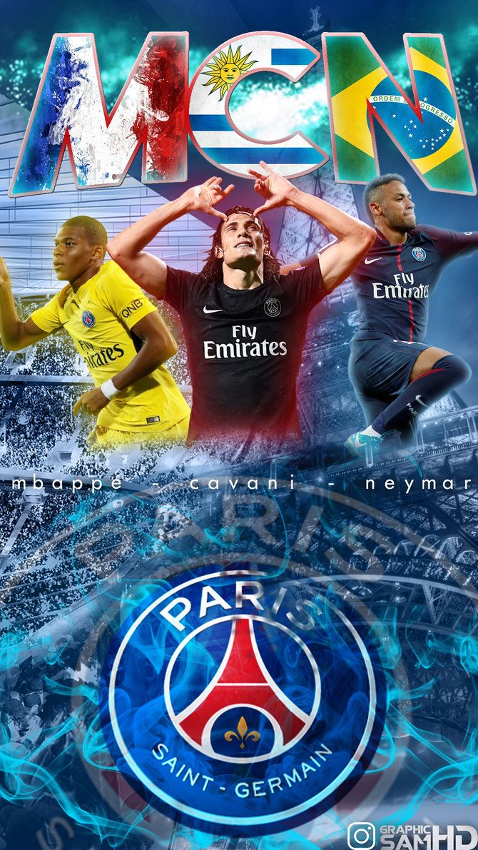 Mbappe Cavani Neymar Phone Wallpaper 2017/2018 by GraphicSamHD on …