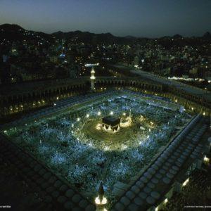 download Mecca at Night during Haj, Saudi Arabia