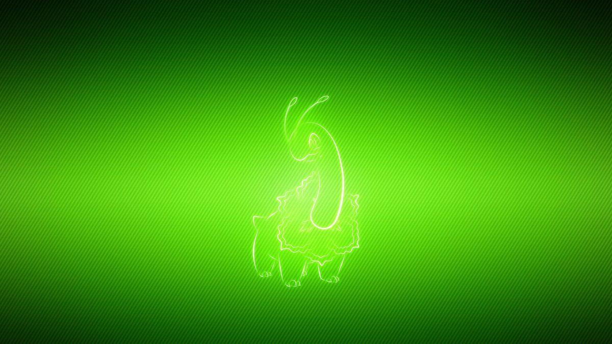 Download Wallpaper 3840×2160 Pokemon, Green background, Meganium …