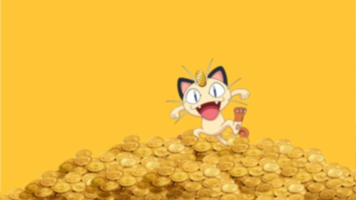 Pokemon coins money Meowth wallpaper | 1920×1080 | 295054 …