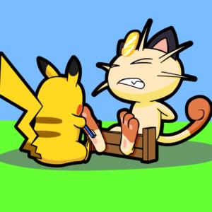 download Pika Takes on Meowth by Alphaws on DeviantArt