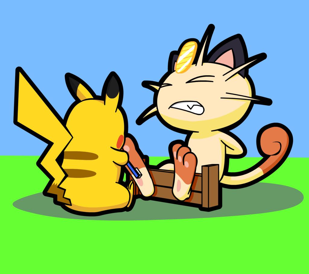Pika Takes on Meowth by Alphaws on DeviantArt