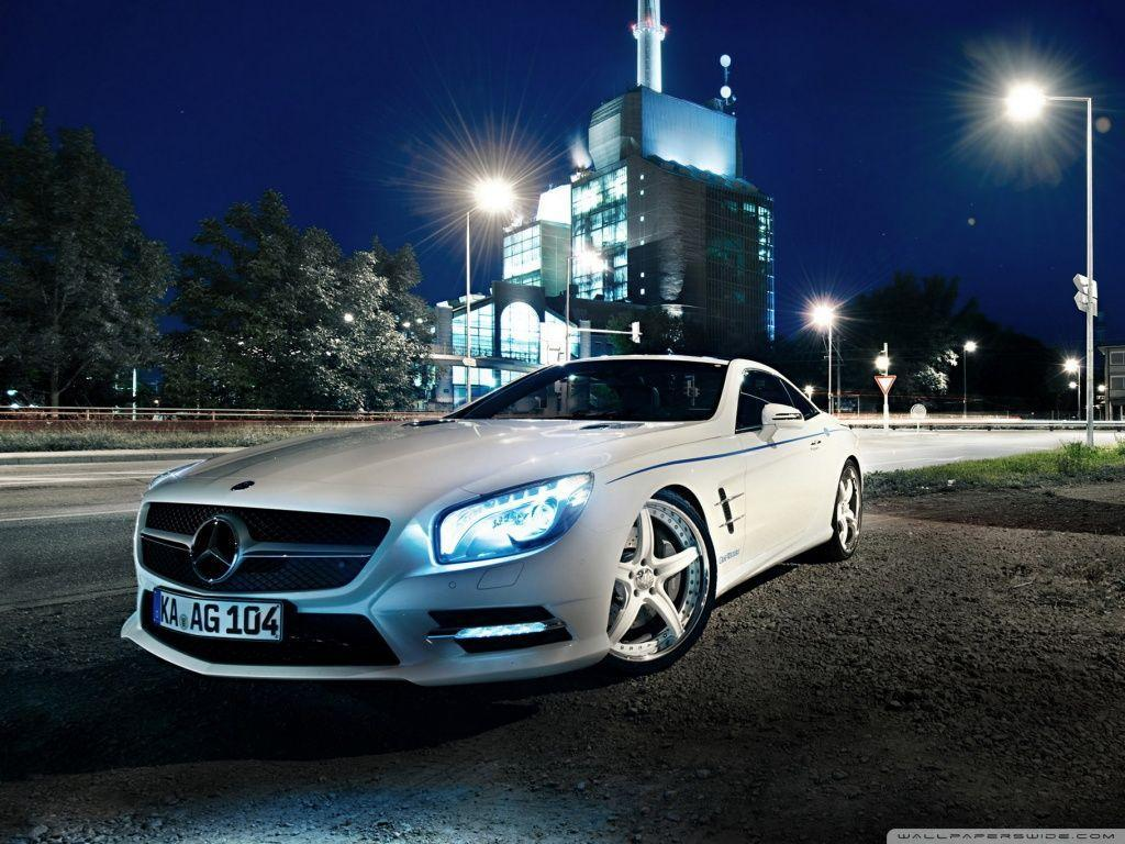 Mercedes Benz SL500, Night HD desktop wallpaper : Widescreen …