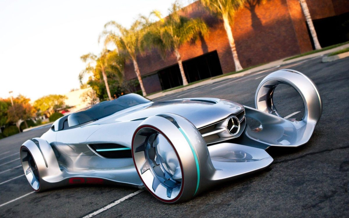Mercedes Benz Silver Lightning – wallpaper.