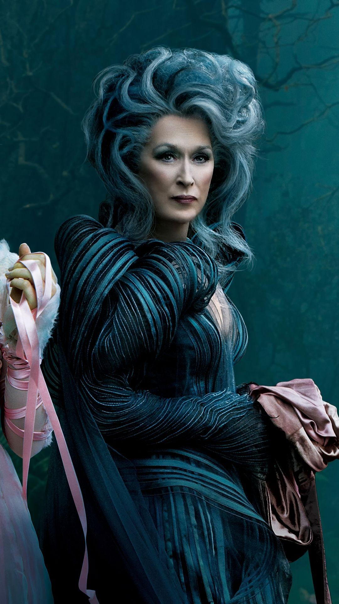 Download Wallpaper 1080×1920 Into the woods, Meryl streep …