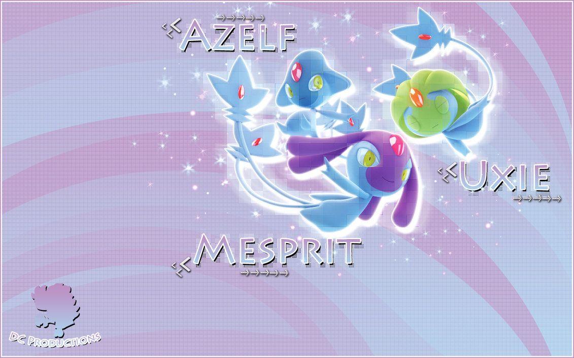 Uxie Mesprit Azelf Wallpaper by demoncloud on DeviantArt