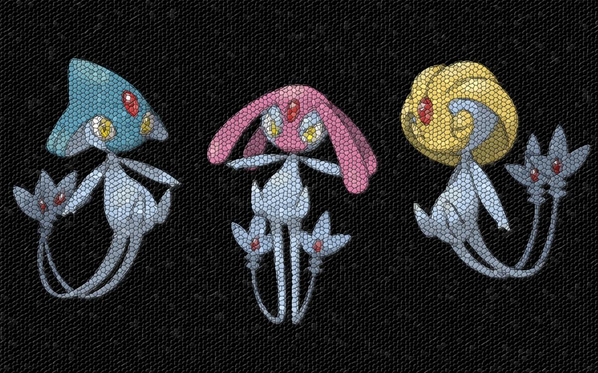 Pokemon, mosaic, Uxie, Azelf, Mesprit – Free Wallpaper …