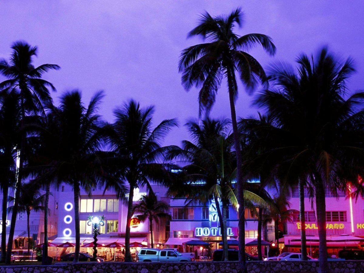 Miami Beach-Art Deco District at night wallpaper – 1600×1200 …
