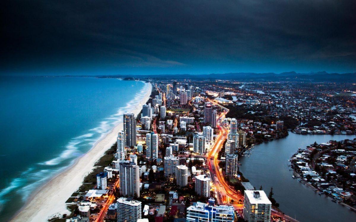 Miami Beach Aerial View at Dusk | BEACH