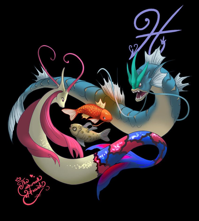 Pisces- Milotic and Gyarados by TheCrownedHeart on DeviantArt