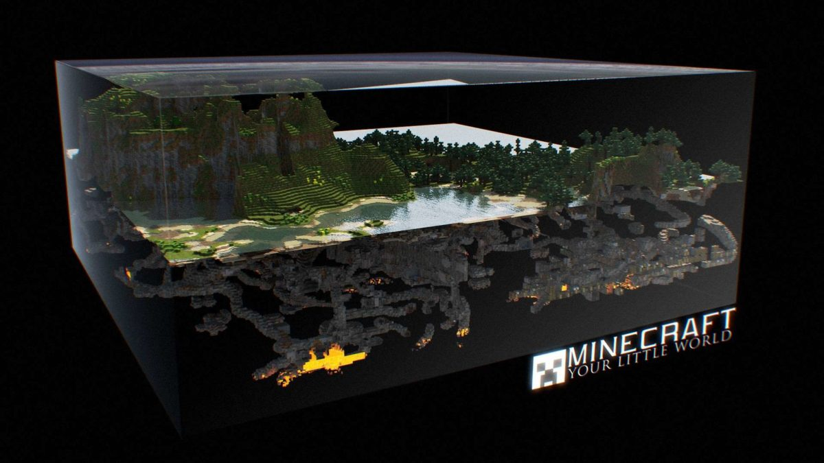 Minecraft 3D World HD Wallpaper » FullHDWpp – Full HD Wallpapers …