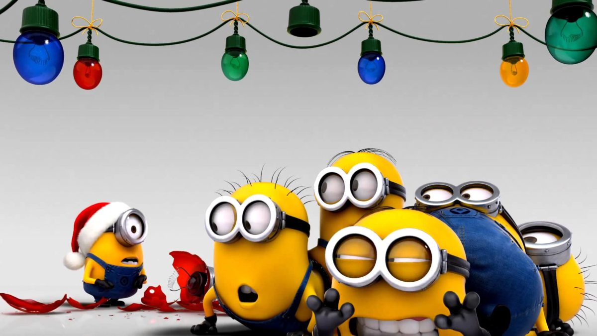 Minions decorating for christmas wallpaper – 1170566