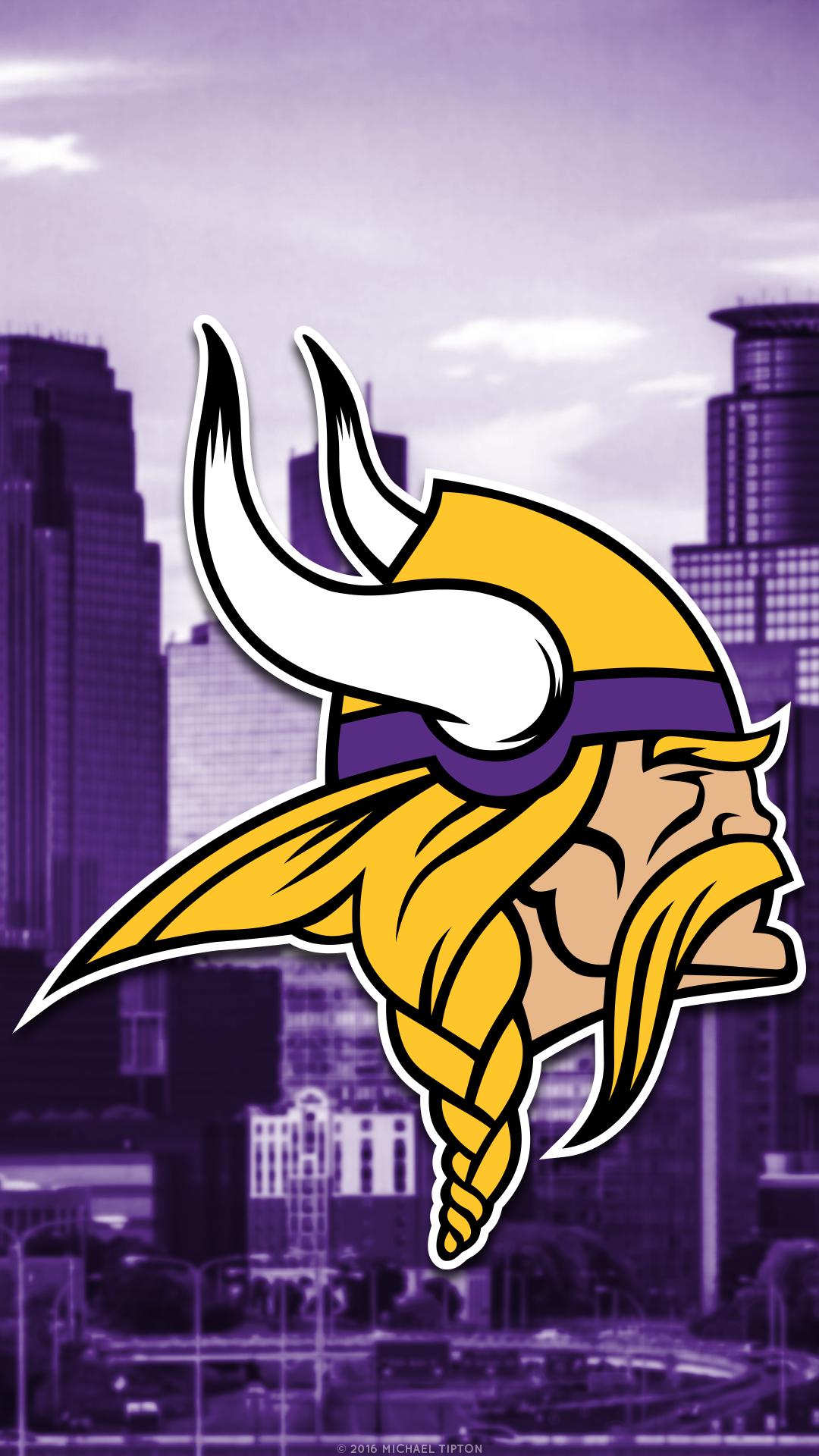 Minnesota Vikings 2018 Mobile City Logo Wallpaper
