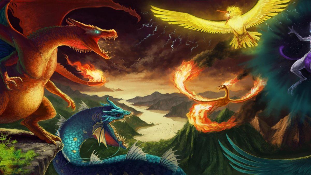 Zapdos lightning articuno charizard moltres legendary birds …