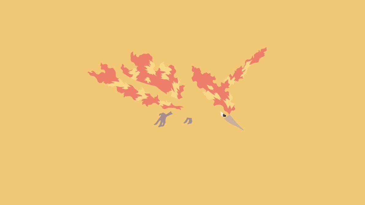 Minimalistic Wallpaper: Moltres (#146) by MardGeerT on DeviantArt