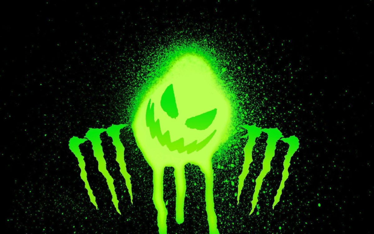 Monster Energy Splatter Scratch Green wallpaper #