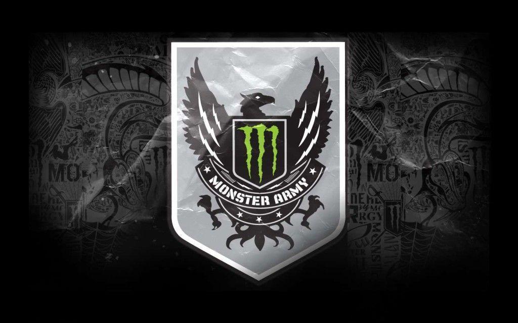 Monster Energy Monste Army Logo HD Wallpaper Background