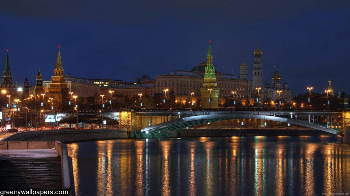 Kremlin Bridge Moscow 1920×1080 Wallpaper