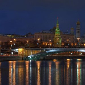 download Kremlin Bridge Moscow 1920×1080 Wallpaper