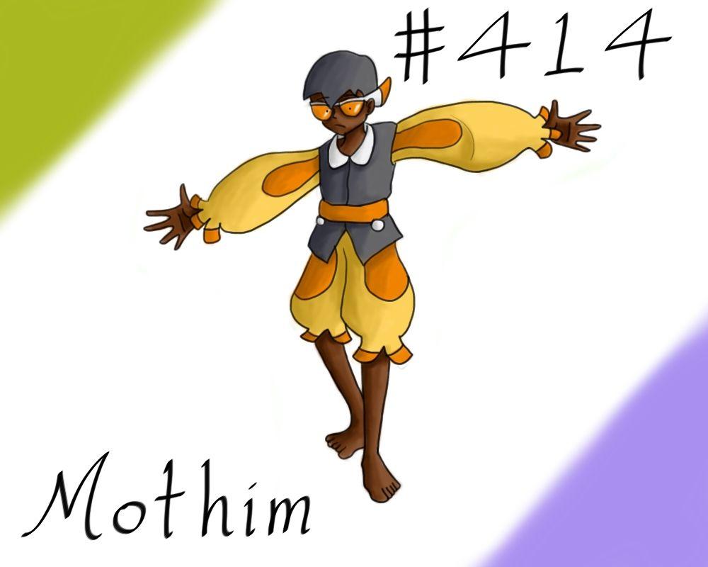 Pokemon Gijinka Project 414 Mothim by JinchuurikiHunter on DeviantArt