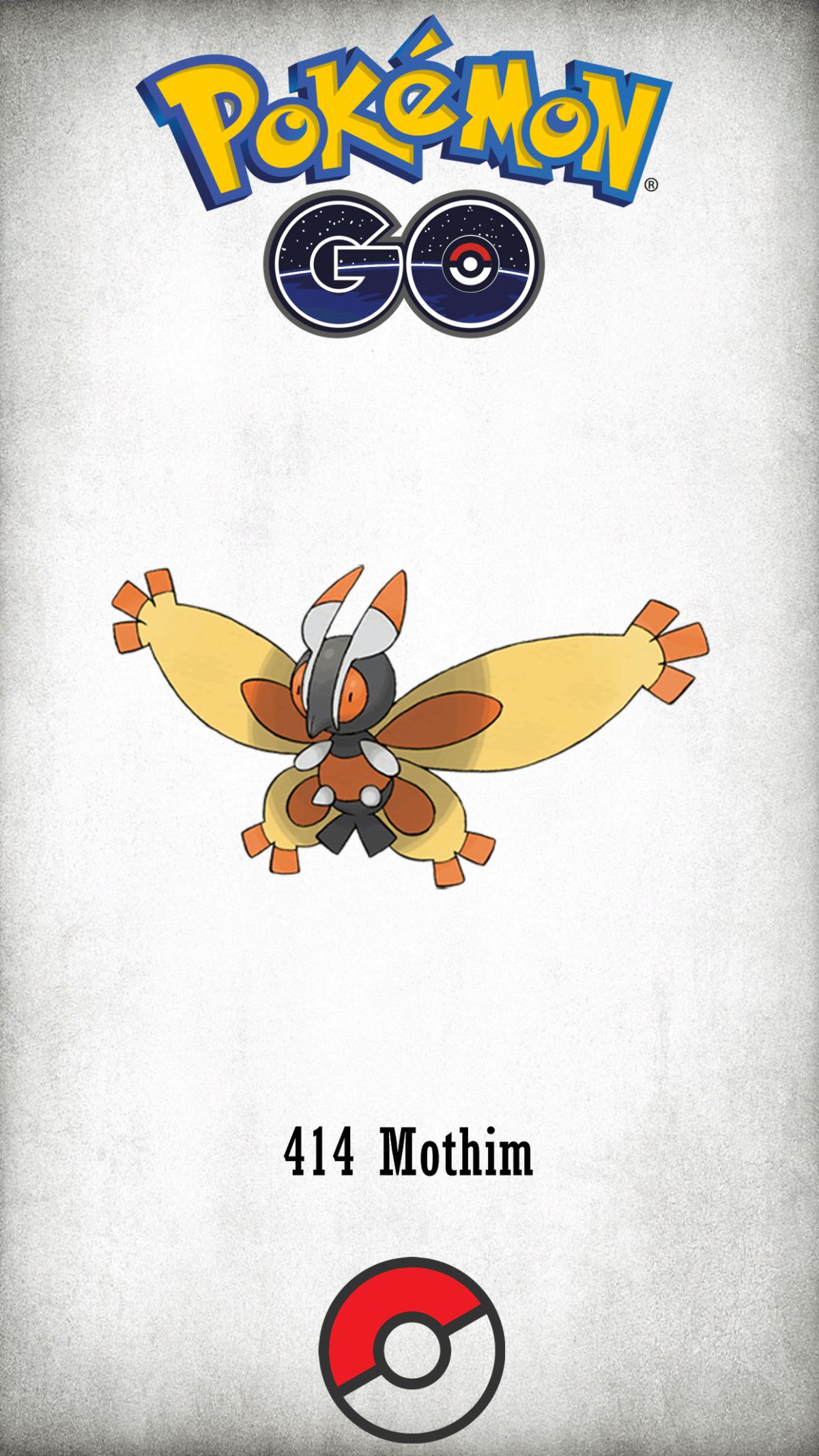 414 Character Mothim | Wallpaper