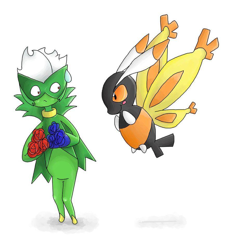 Roserade and Mothim by ColonelCheru on DeviantArt