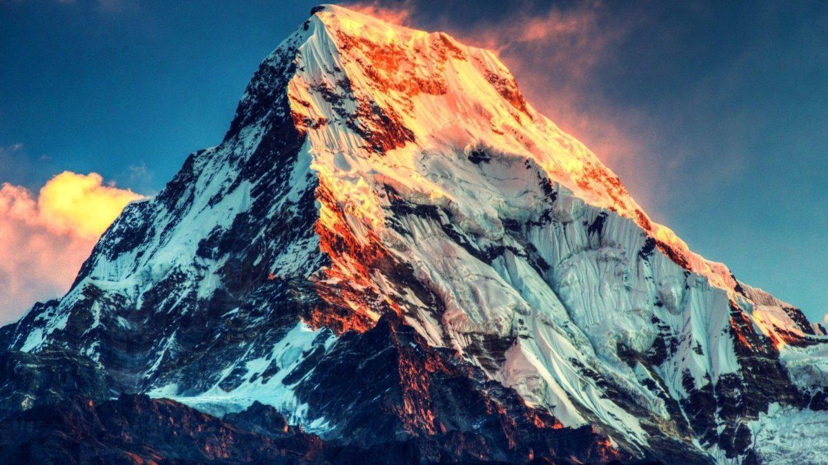 Burning Sunlight Mount Everest HD Wallpaper » FullHDWpp – Full HD …