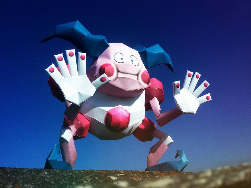 mr. mime papercraft by johannhernandez117 on DeviantArt