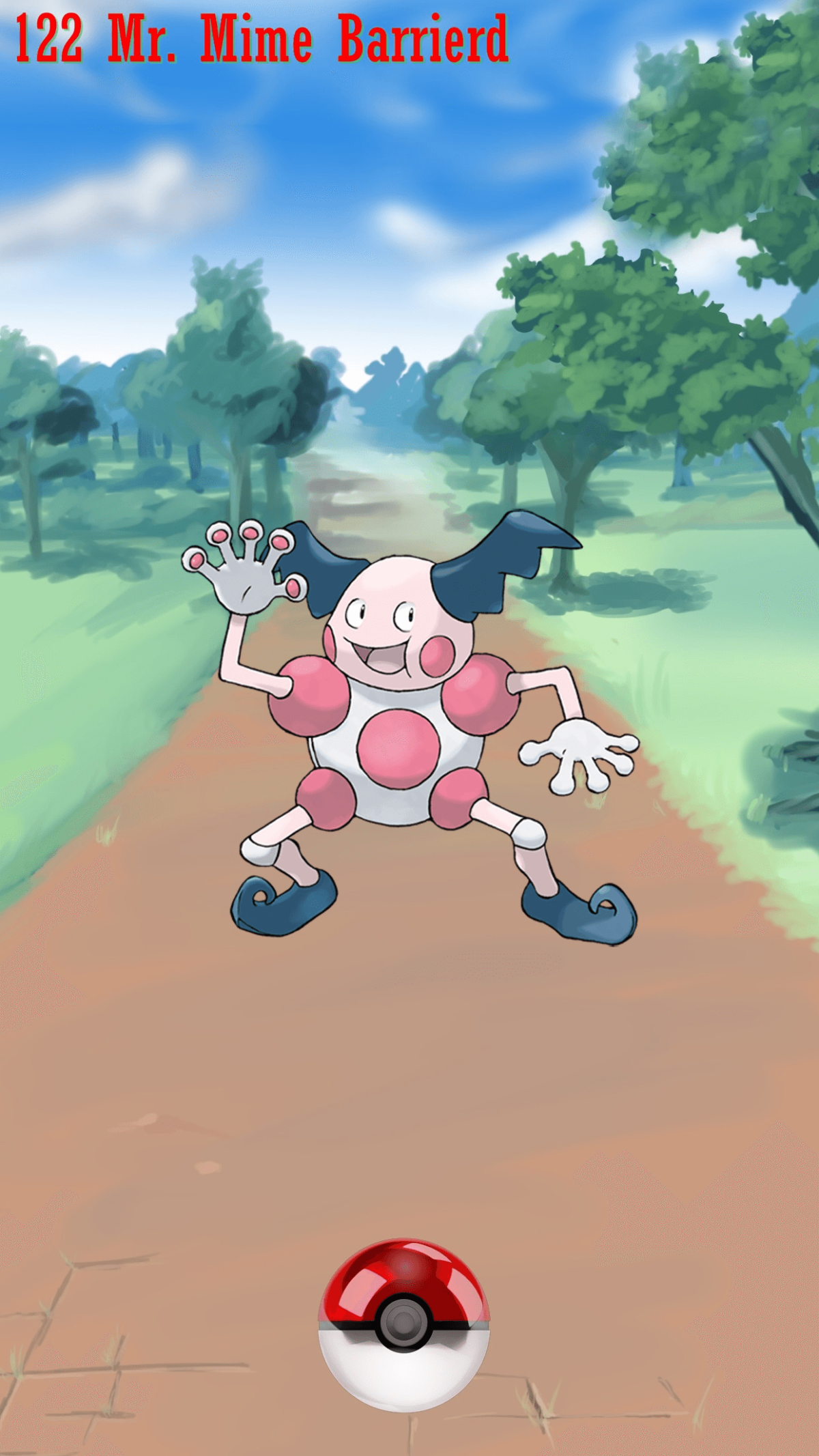 122 Street Pokeball Mr. Mime Barrierd | Wallpaper